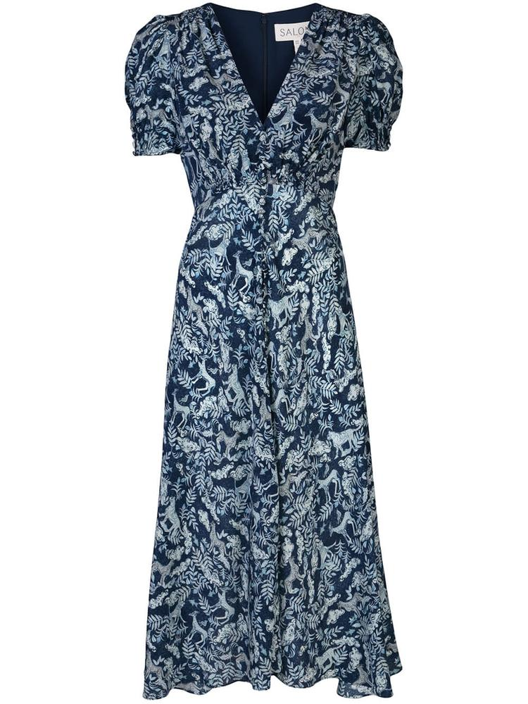 Lea Menagerie Print Midi Dress