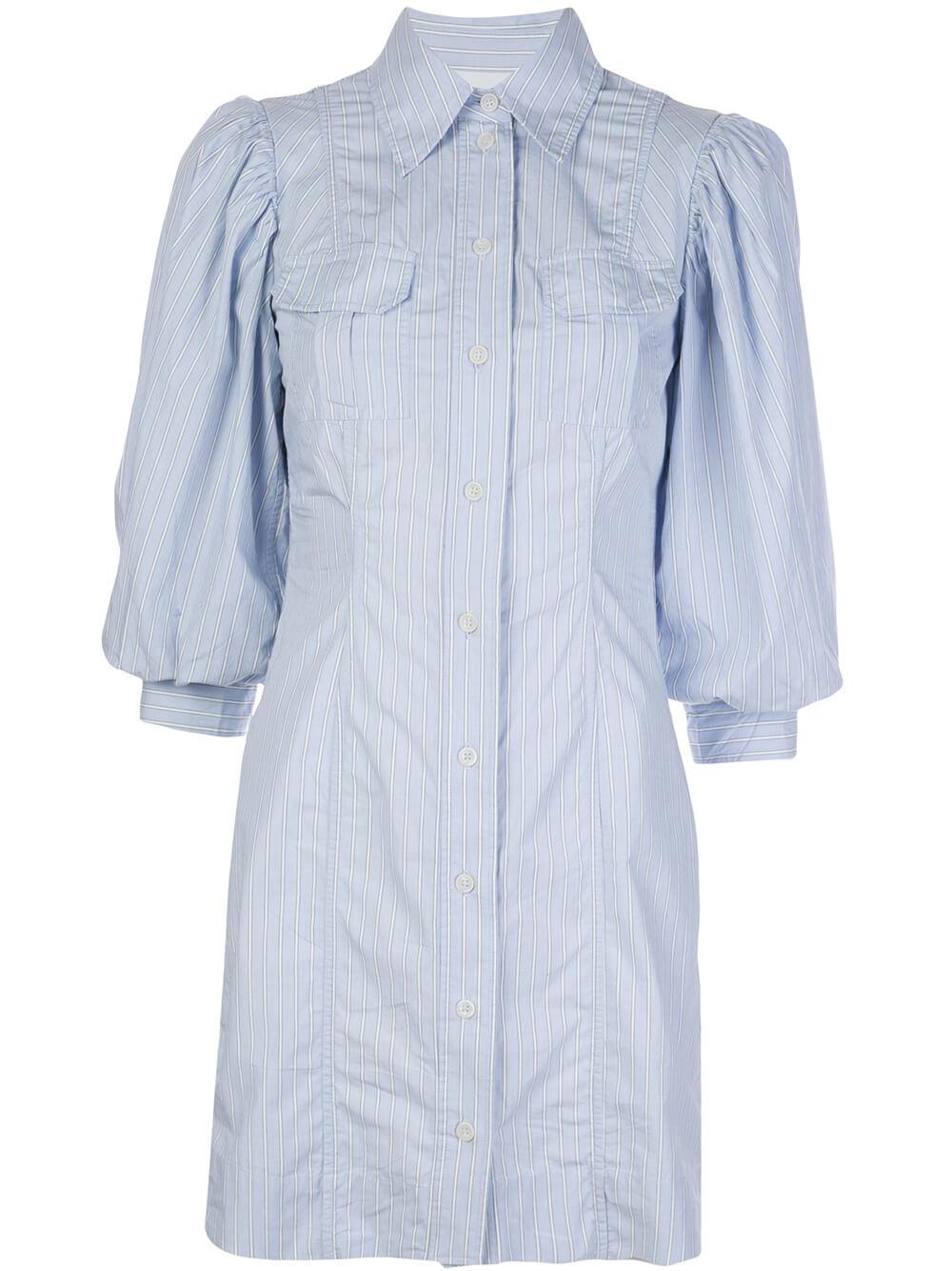 Stripe Cotton Shirt Dress Item # F4649