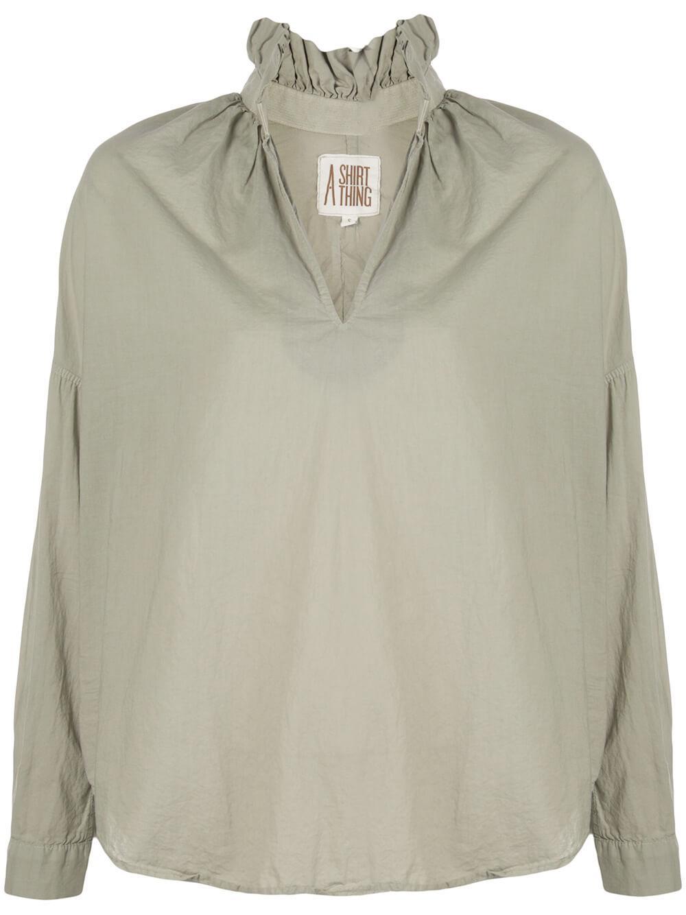 Penelope Cabo Ruffle Neck Shirt