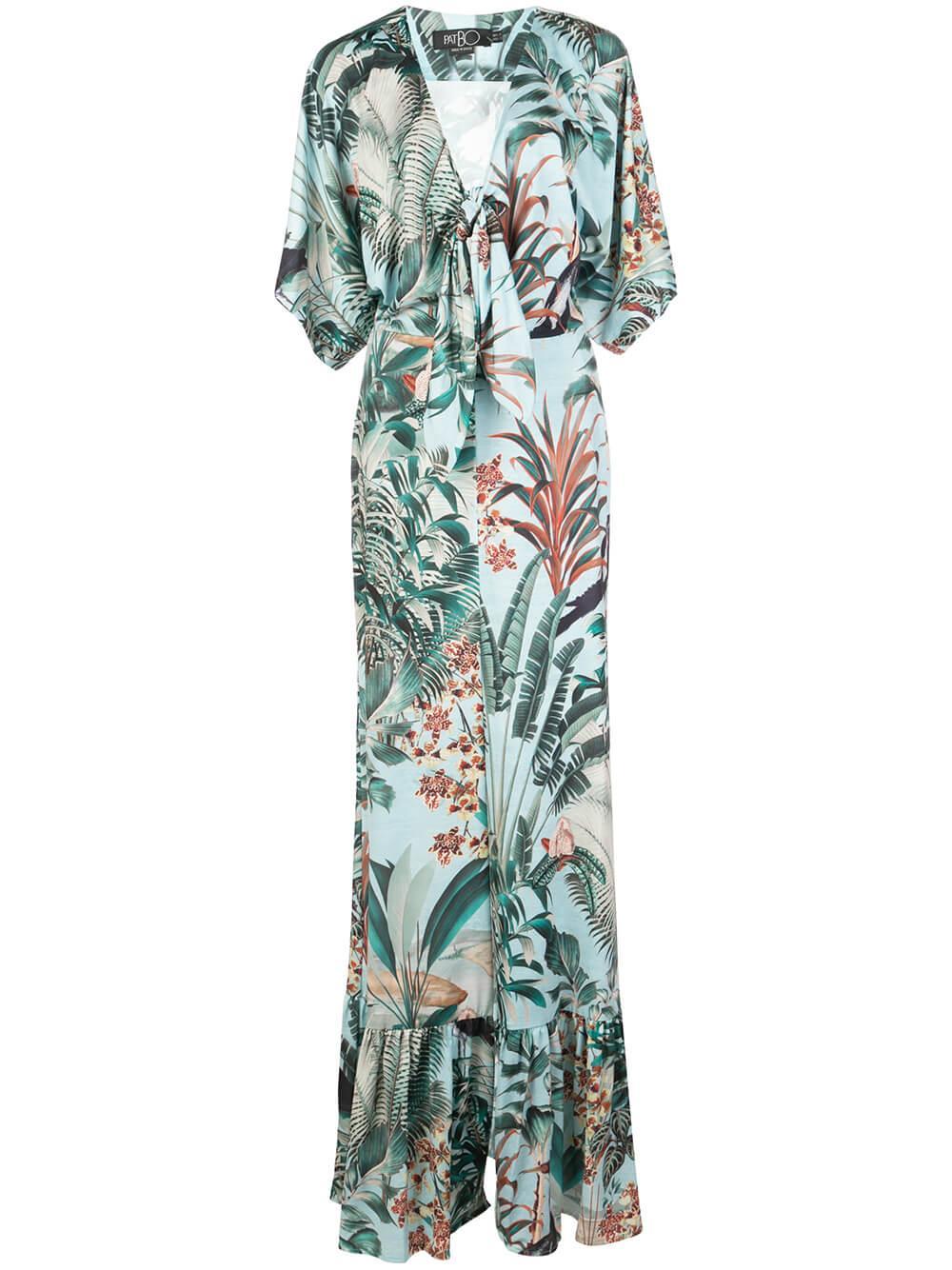 Eden Print Jersey Maxi Dress Item # VEL10231US