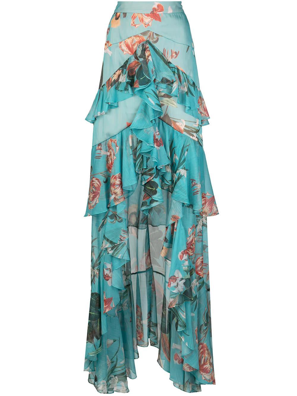 Carolina High Low Maxi Skirt Item # SAL10330US