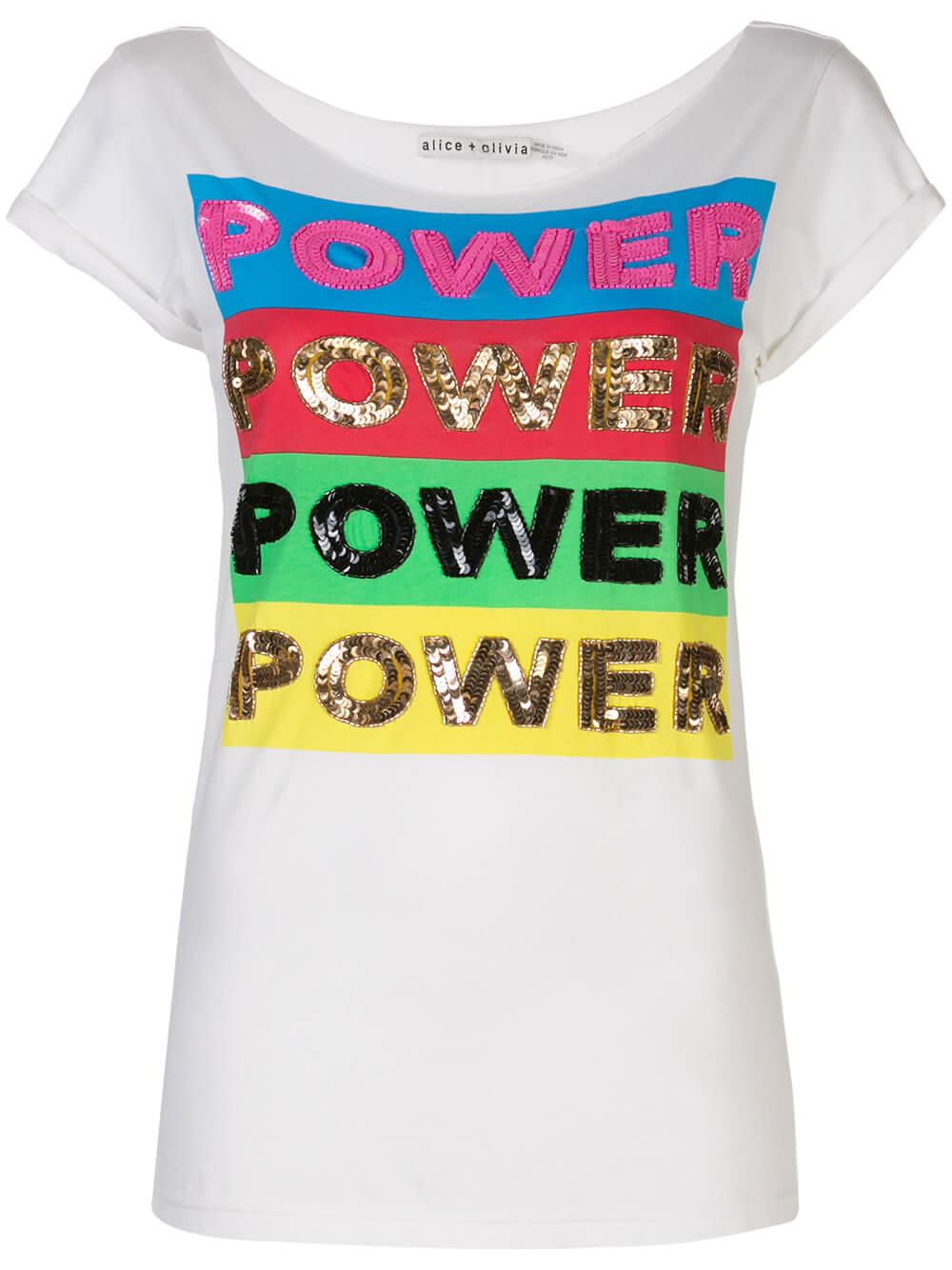 Mikey Power Graphic Embellished Tee Item # CV003V58003