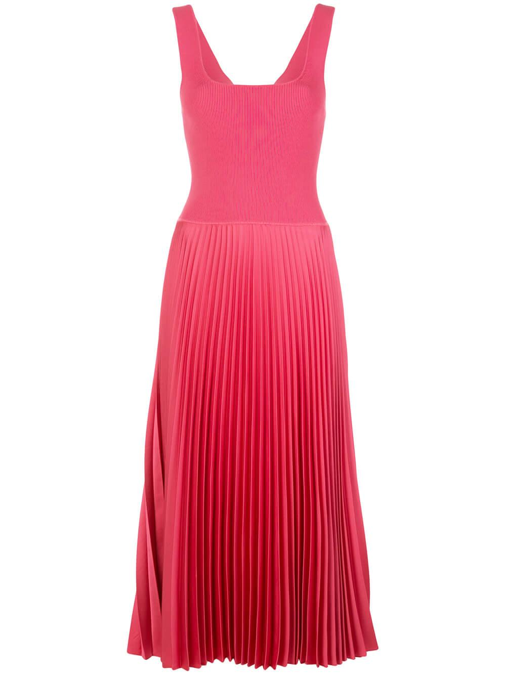 Square Neck Rib Dress Item # K0105611