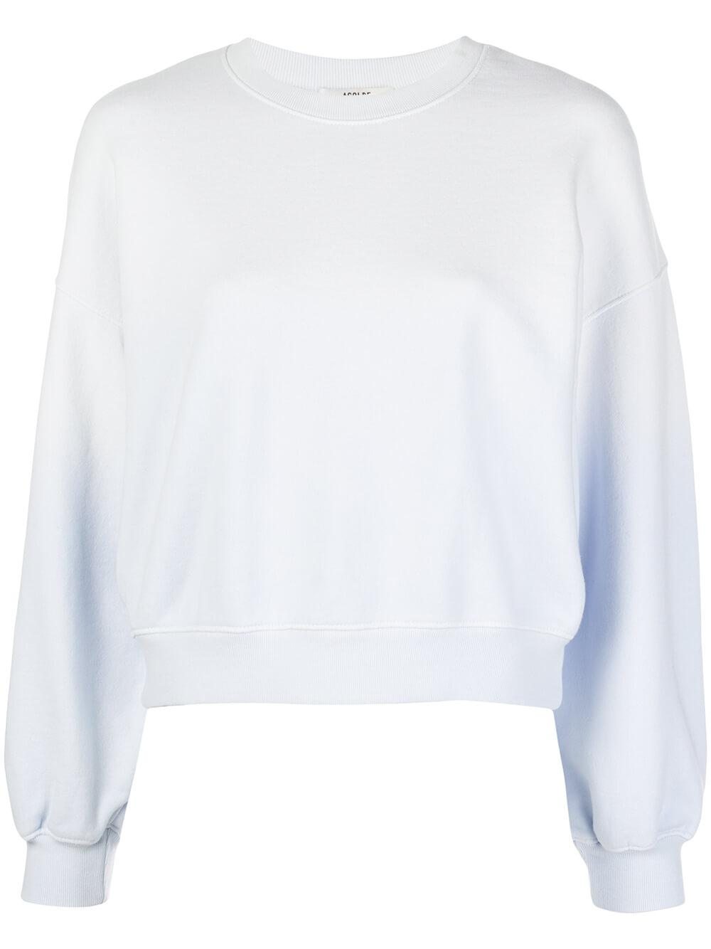 Balloon Sleeve Ombre Sweatshirt