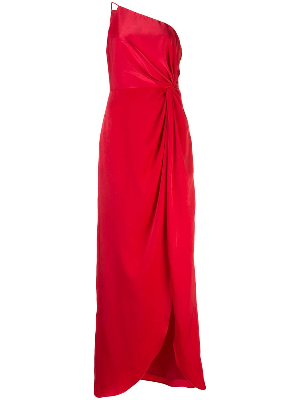 Draped One Shoulder Dress