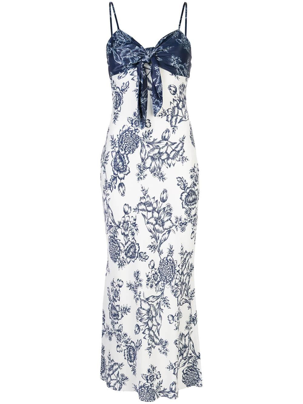 Arcadia Tie Front Bias Slip Dress Item # SJ4932