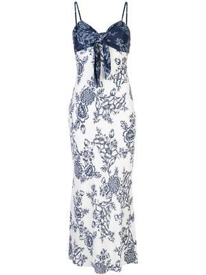 Arcadia Tie Front Bias Slip Dress