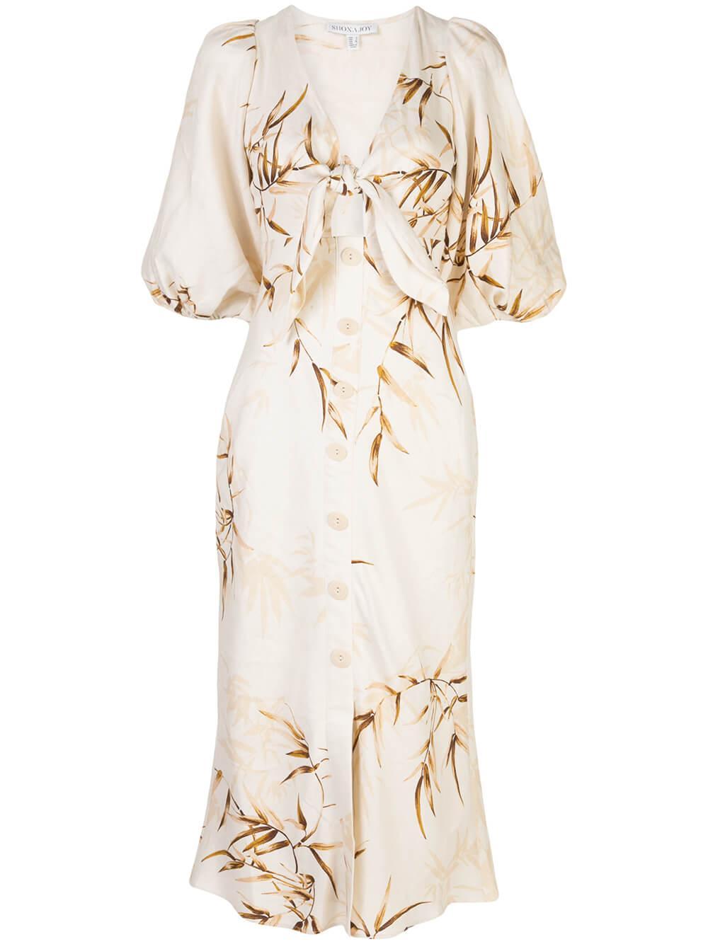Sundance Tie Front Bias Midi Dress