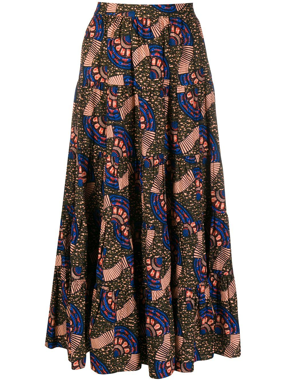 Sylvie Tiered Printed Skirt