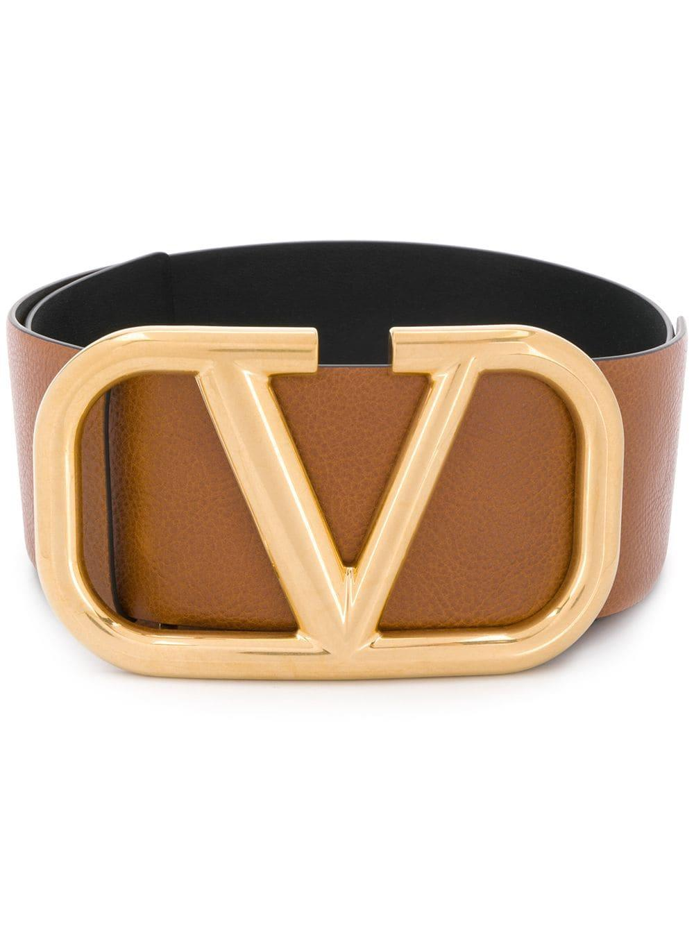 V Logo 70mm Rev Belt With Brass Buckle