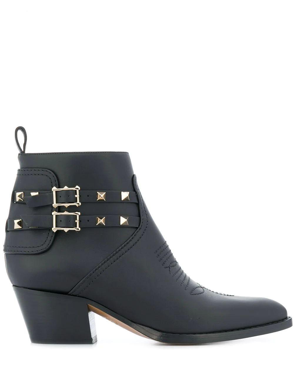 Pointed Toe 50mm Black Heel Bootie Item # SW0S0S04VXS