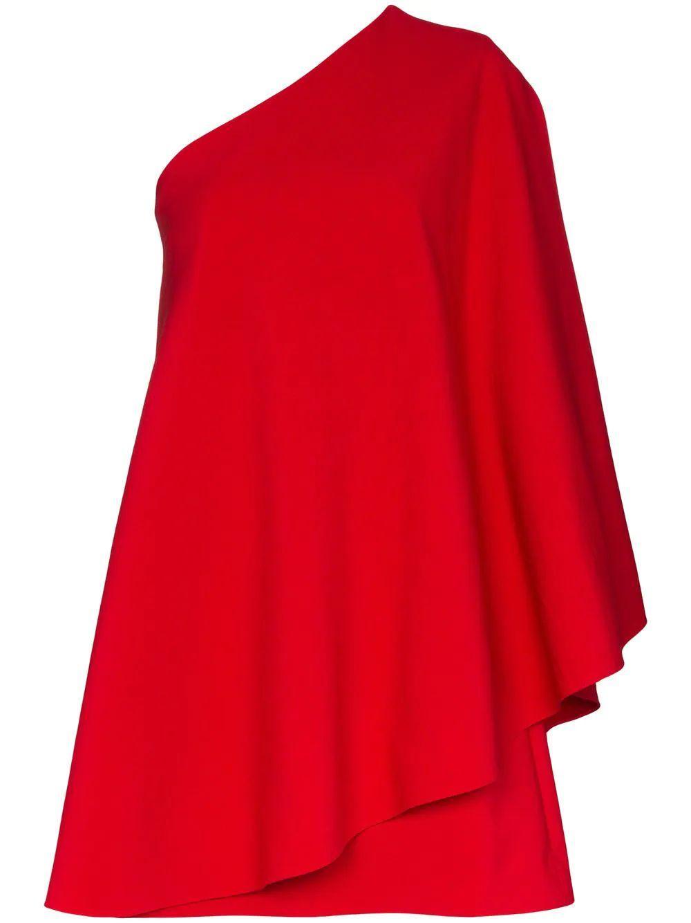 One Shoulder Cape Dress Item # TB3VAR354FJ