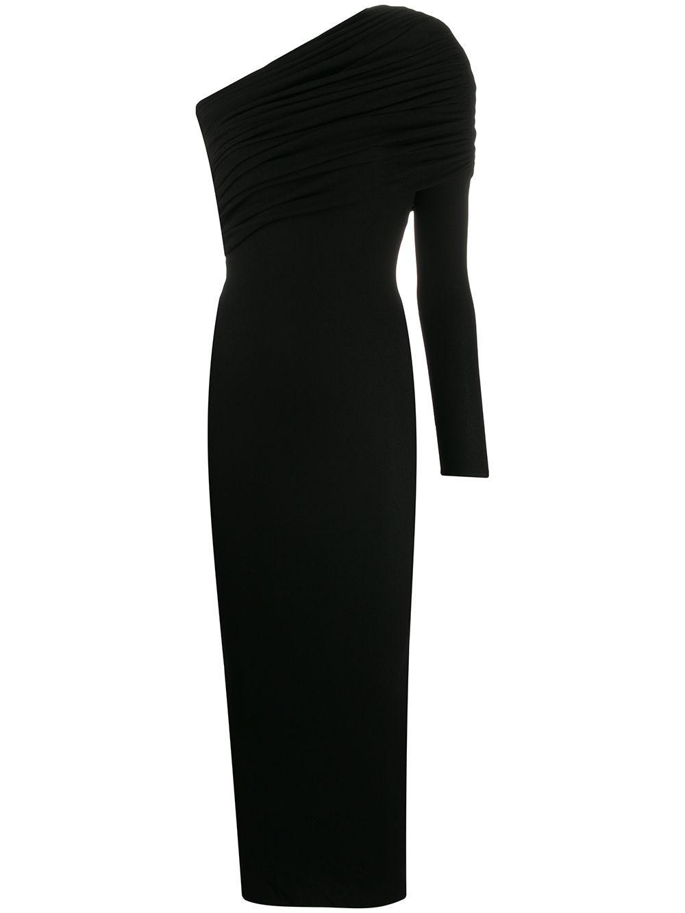 Ruched One Shoulder Jersey Dress