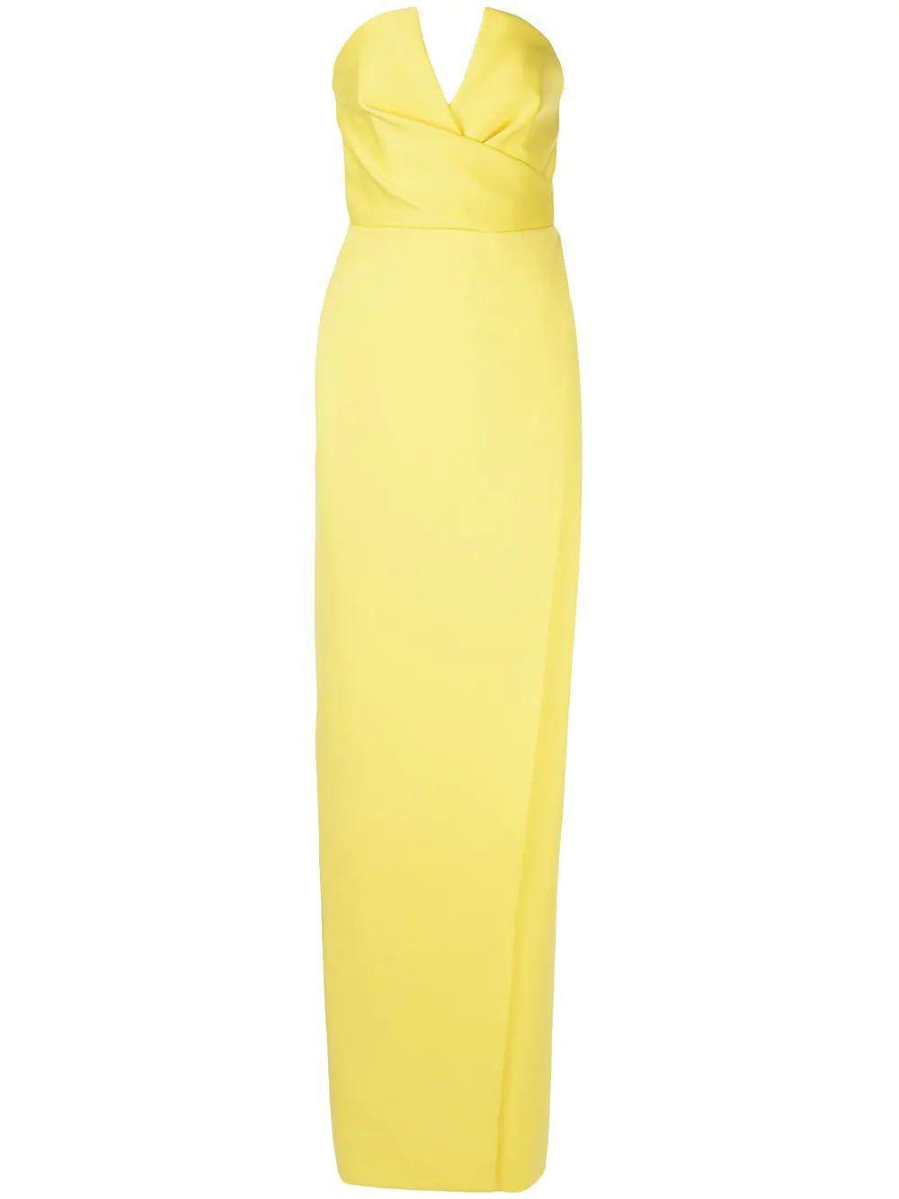 Darcy Satin Strapless Gown