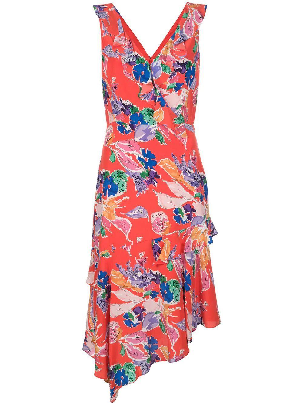 Bouquet Floral Silk Alexis Dress Item # 23AD61