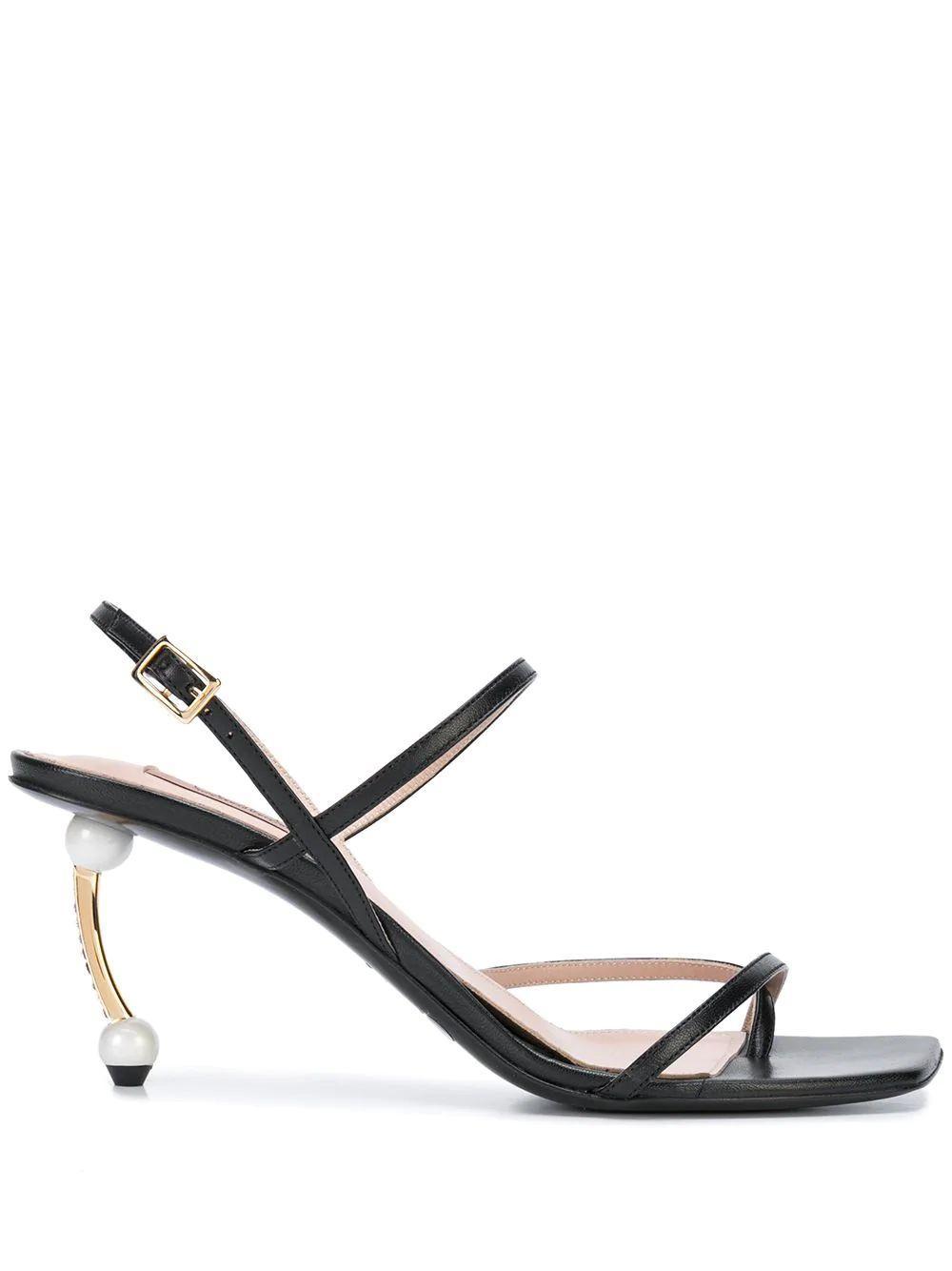 Slingback Sandal With Pearl Heel
