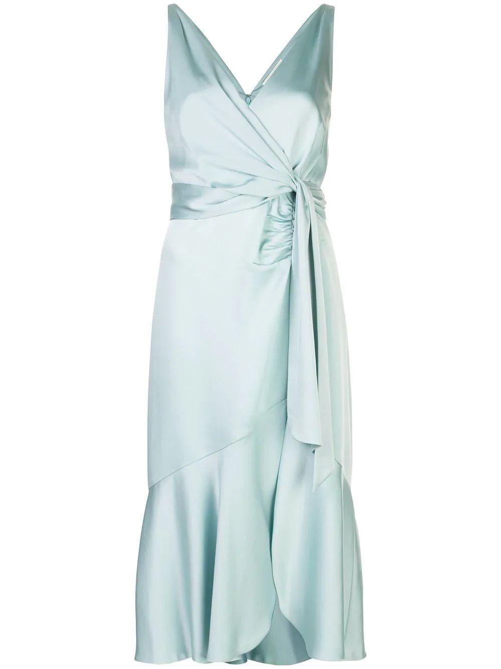 Mia Fluid Satin Dress Item # 220-1043-Q