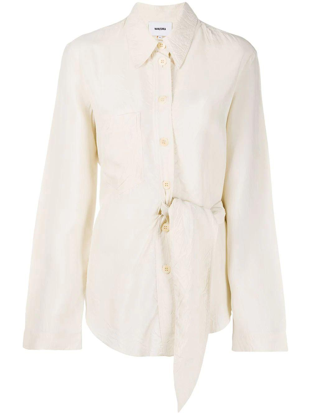 Mara Wrinkled Shirting Buttondown Item # WSB00118