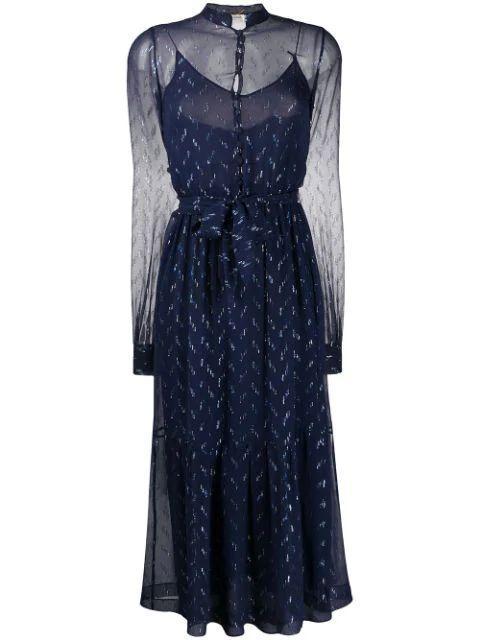 Silk Crepe Midi Dress Item # 618962Y6A54