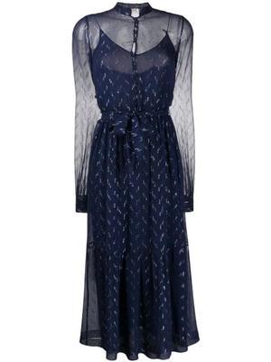 Silk Crepe Midi Dress