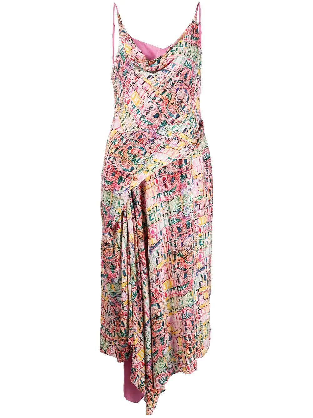 Farrah Croco Print Dress