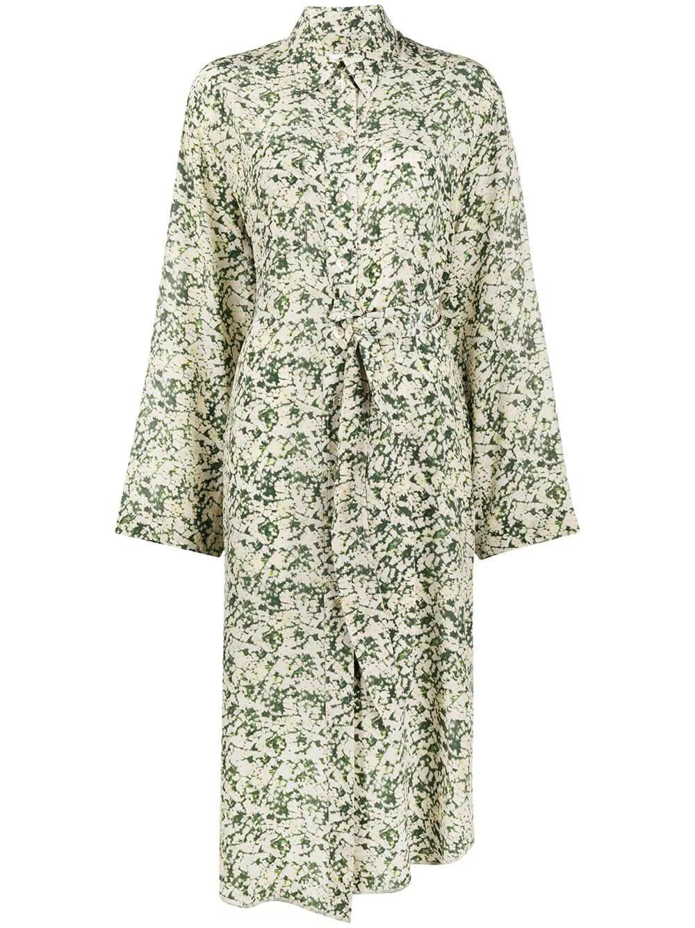 Mona Printed Shirt Dress Item # WDR00269