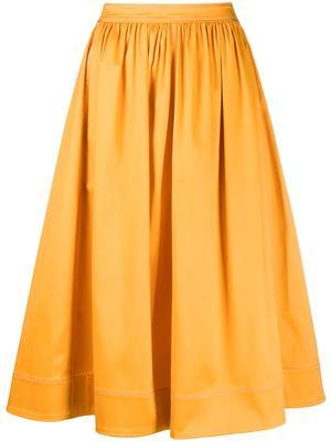 Eliza Stretch Cotton Midi Skirt