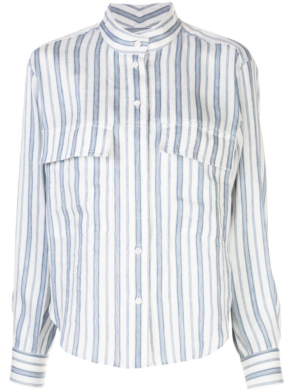 Clean Striped Safari Shirt Item # LWSH1679