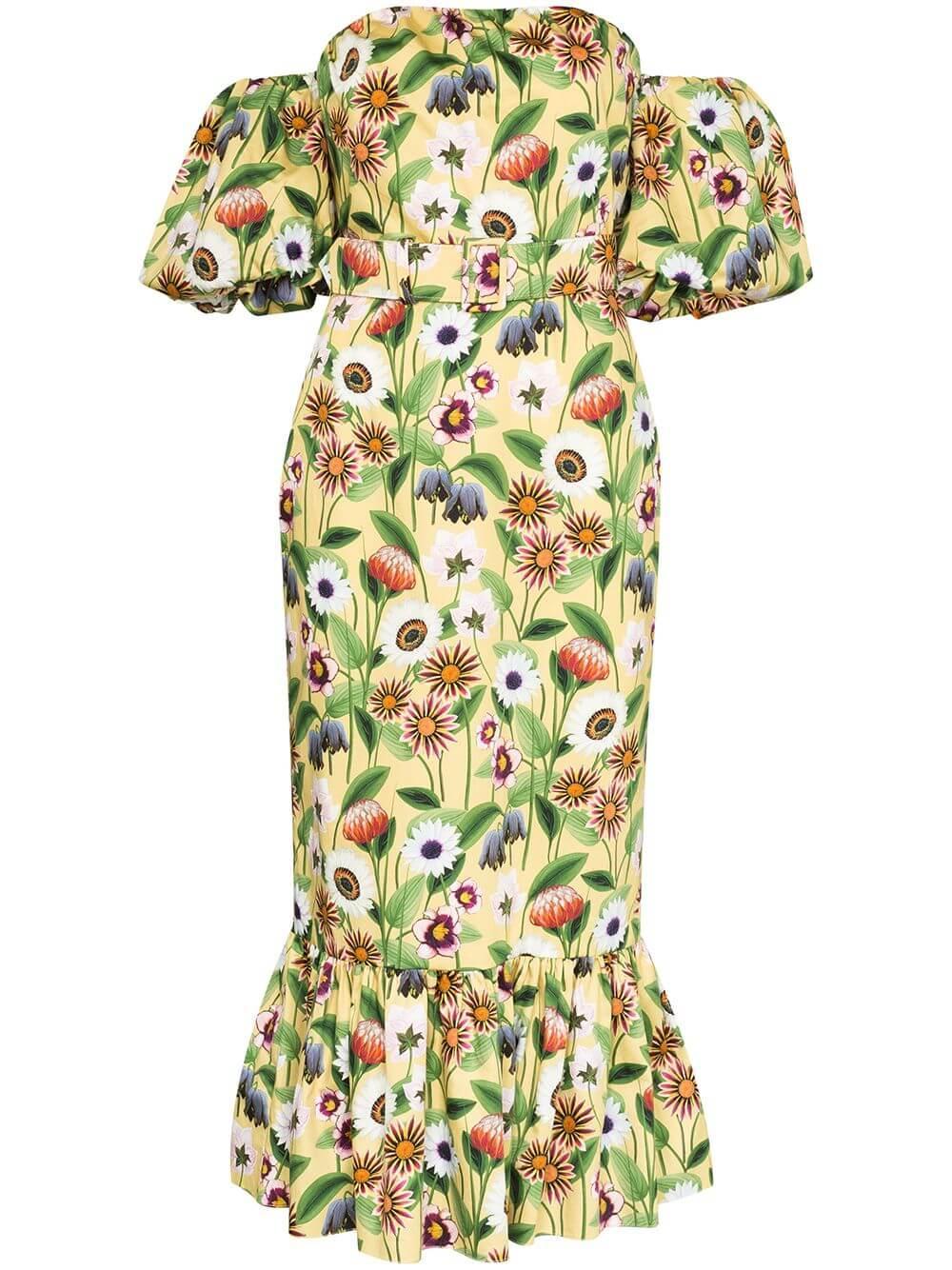 Off Shoulder Cotton Poplin Dress Item # ALEILA