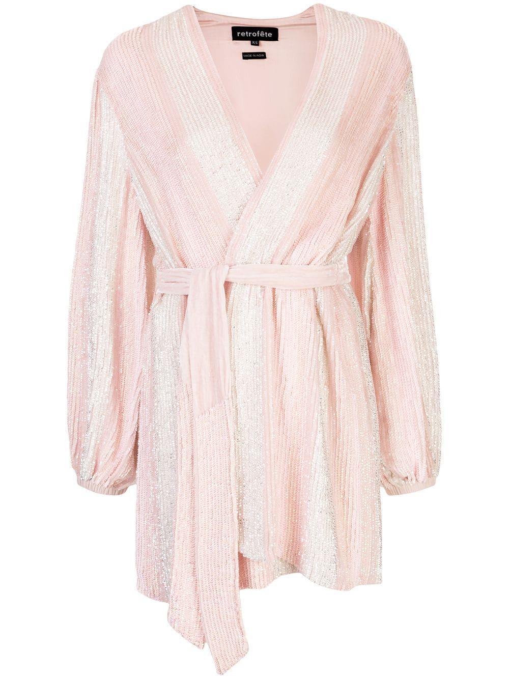 Gabrielle Robe Mini Dress Item # SS20-2701