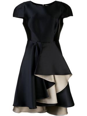 Dramatic Skirt Cap Sleeve Dress