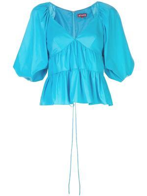 Lucy Puff Sleeve Peplum Top