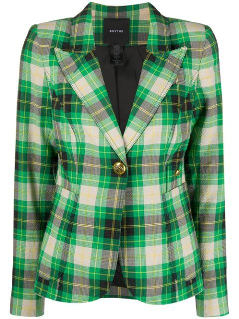 Seersucker Plaid Patch Pocket Blazer Item # SP2011B
