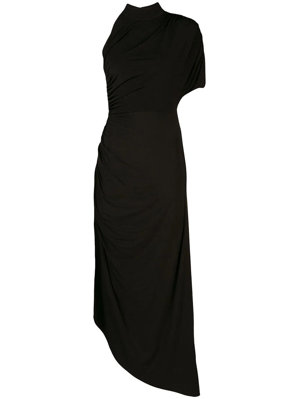 Monica High Neck Asymmetrical Dress