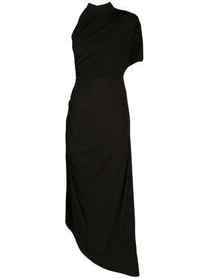 Monica High Neck Asymmetrical Dress