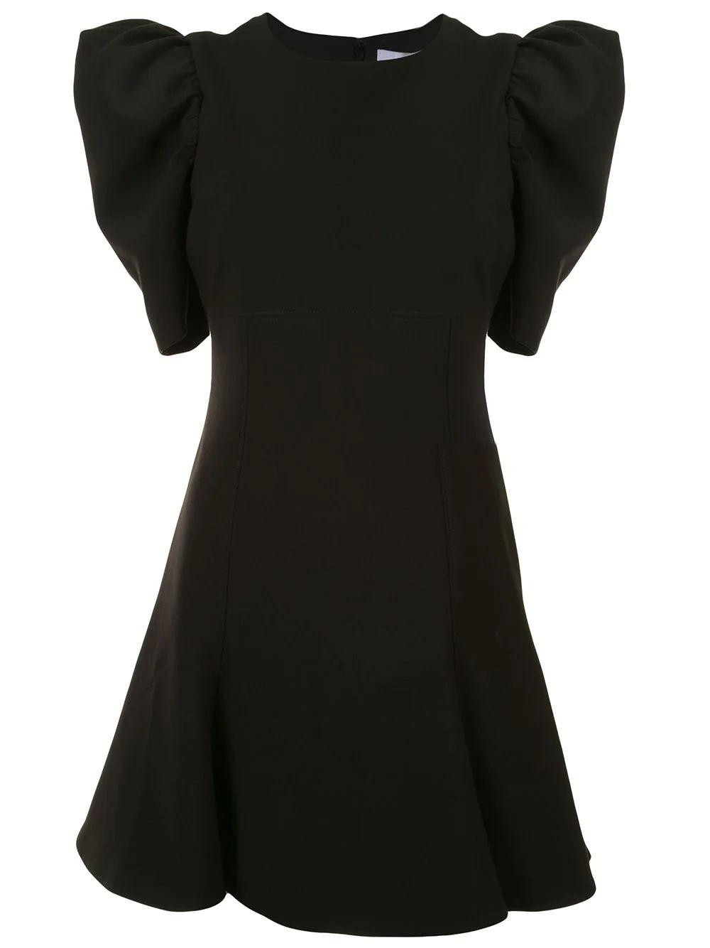 Alia Puff Sleeve Flare Dress