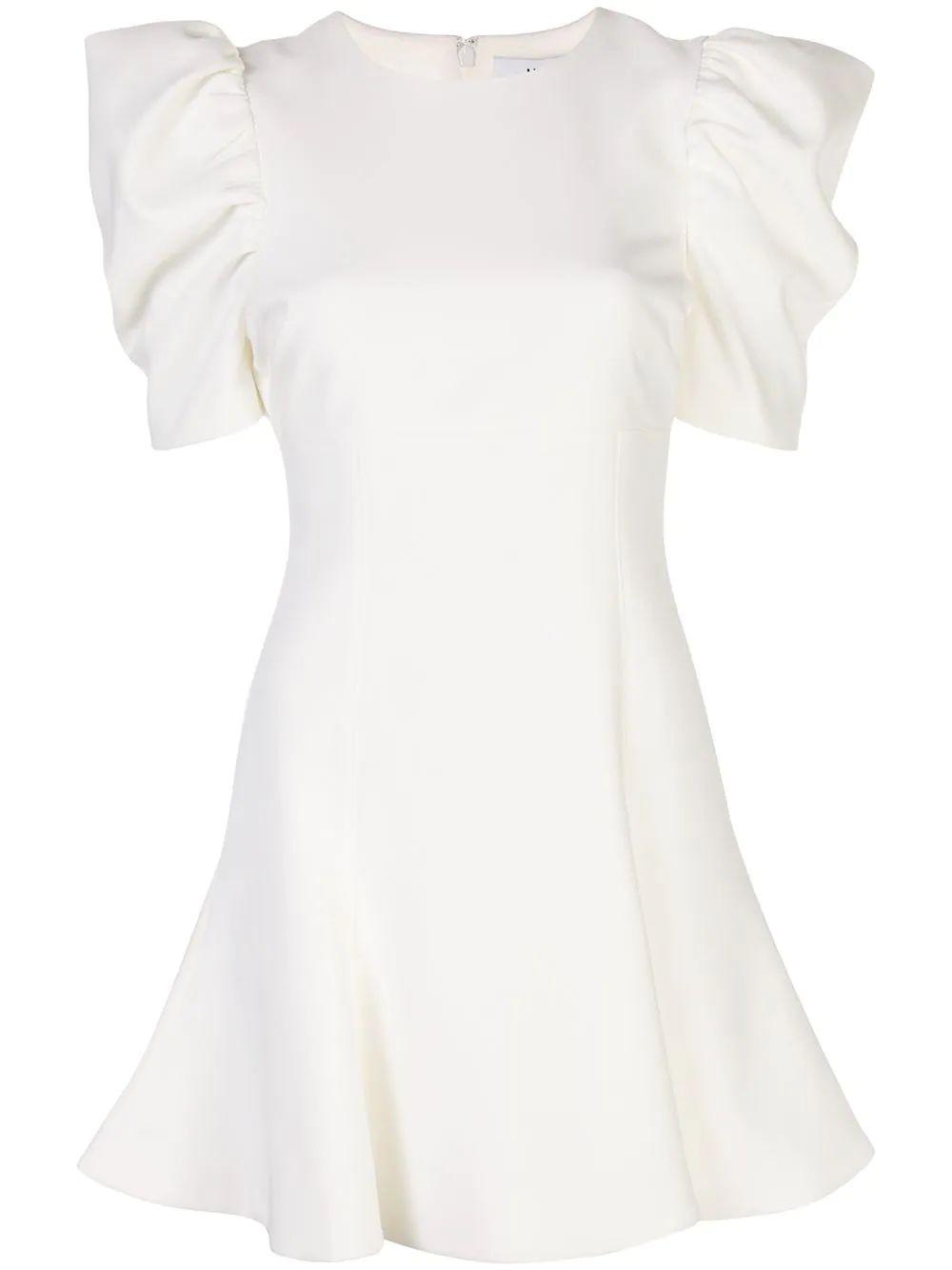 Alia Puff Sleeve Flare Dress Item # YD1077001LYB