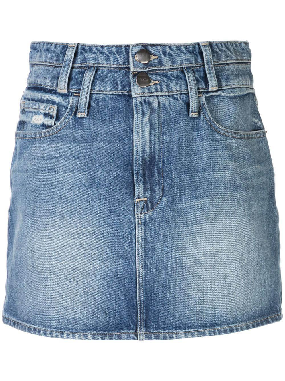 Le Mini Skirt With Double Waistband Item # LMSKDW385
