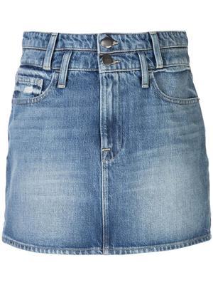 Le Mini Skirt With Double Waistband