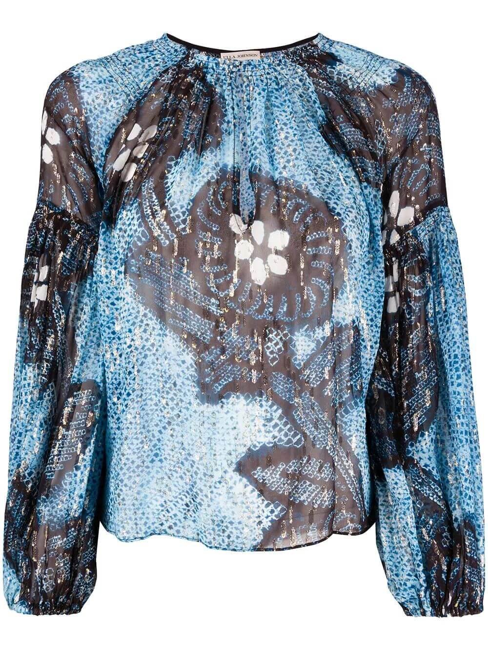 Sanya Long Sleeve Pleated Blouse Item # SP200216