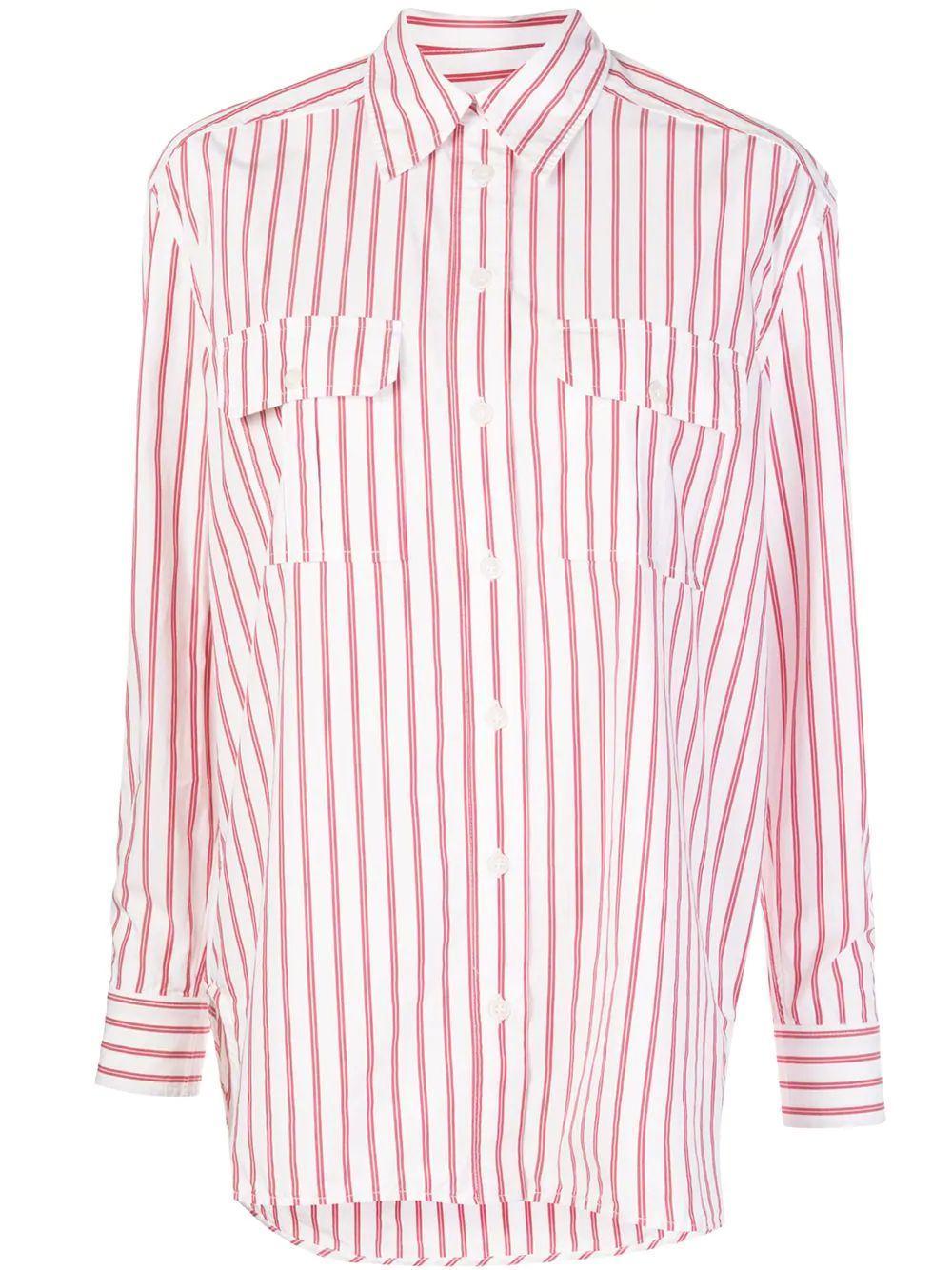 Stripe Cotton Buttondown Item # F4869