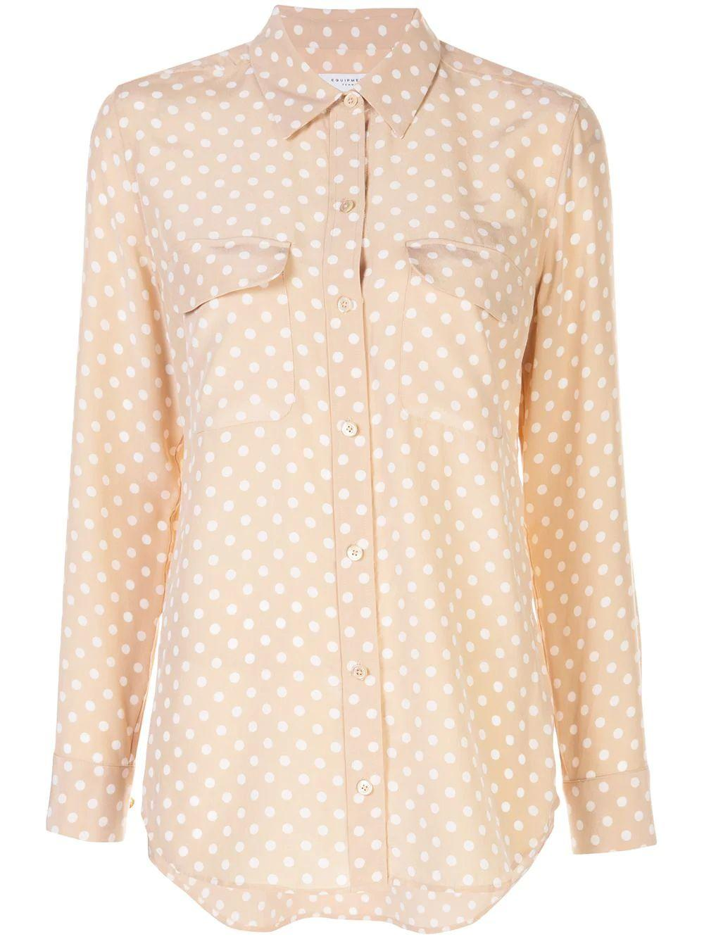 Slim Signature Dot Print Blouse