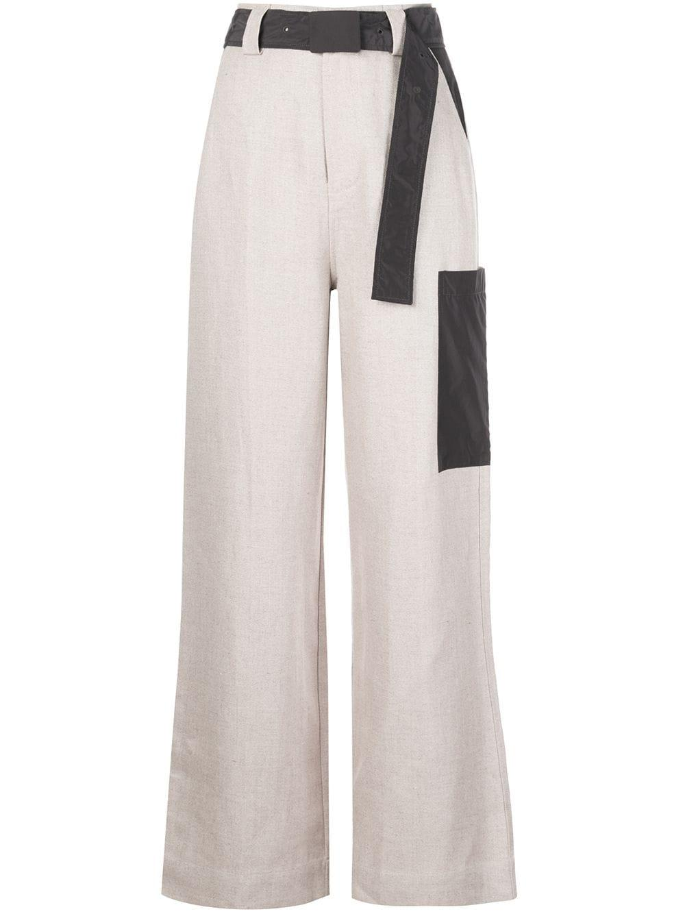 Linen Pant With Belt Item # F4546