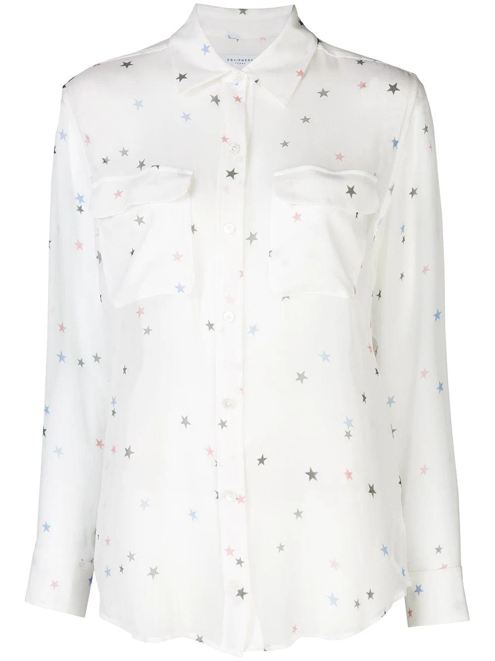 Signature Confetti Sheer Blouse