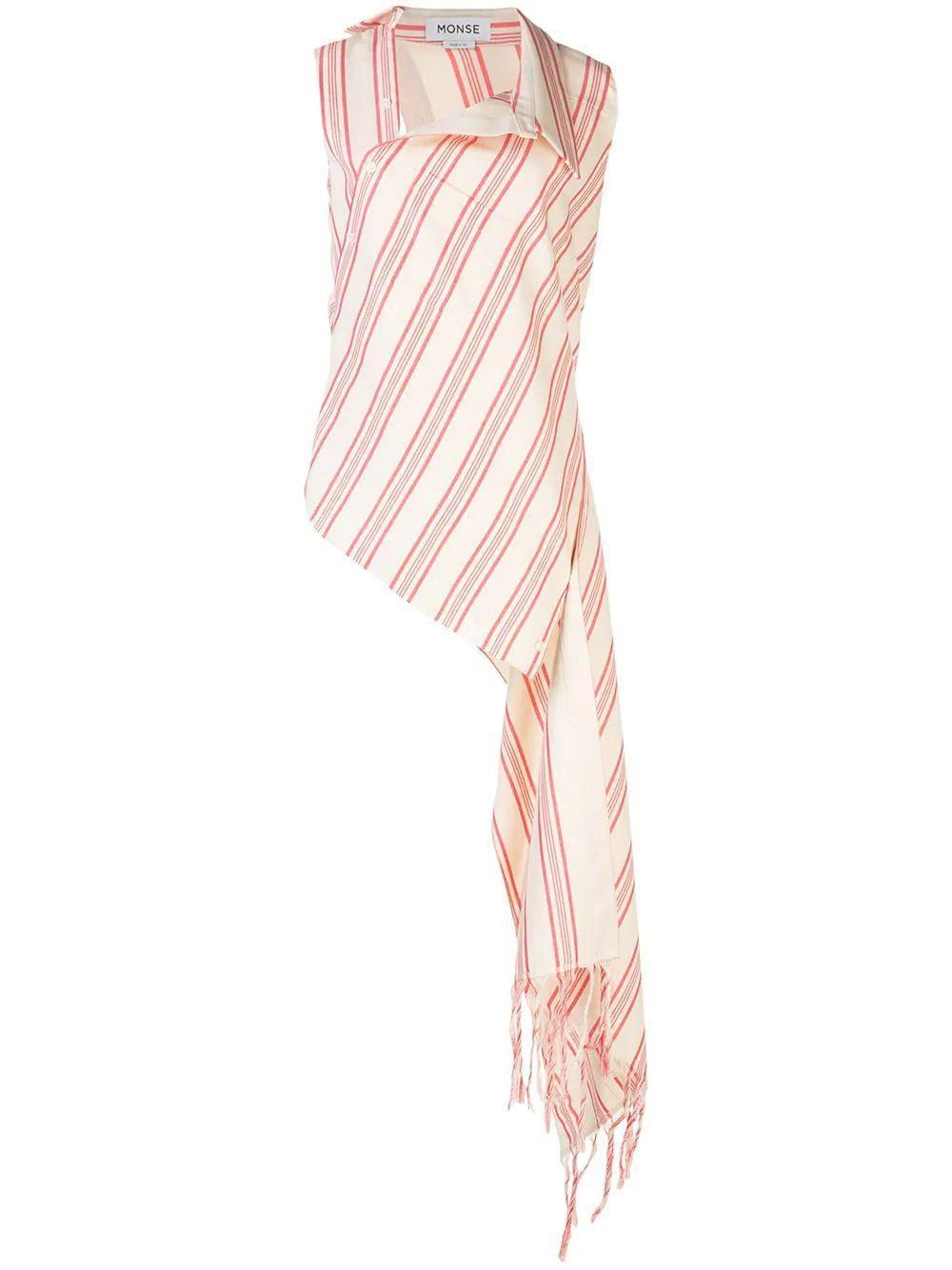 Fringe Stripe Open Back Cascade Top Item # MS200527FHS