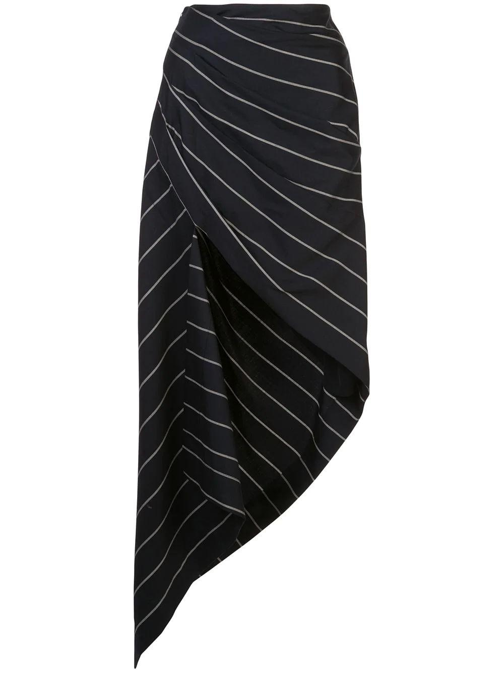 Pinstripe Wrapped Skirt
