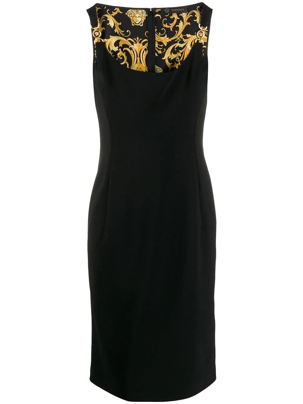 Fitted Dress With Hardware Detail