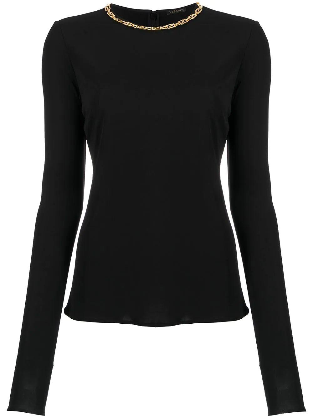 Blouse With Chain Neck Detail