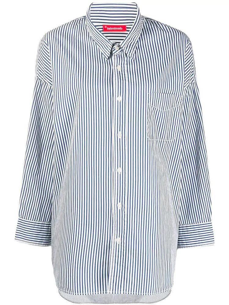 Stripe Button Front Shirt Item # 4230