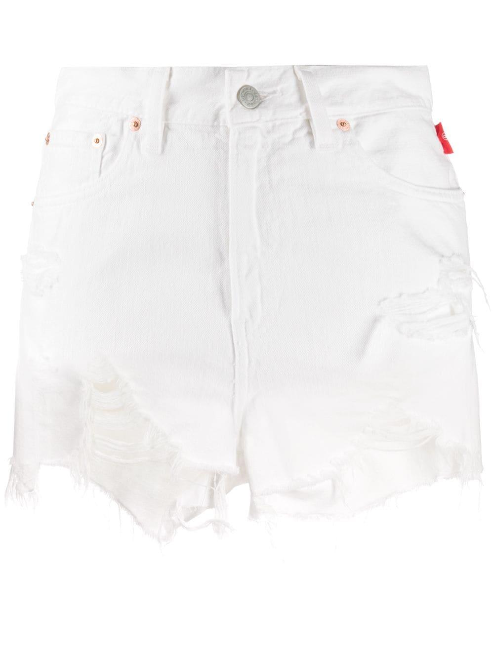Nic Distressed Hem Cutoff Shorts